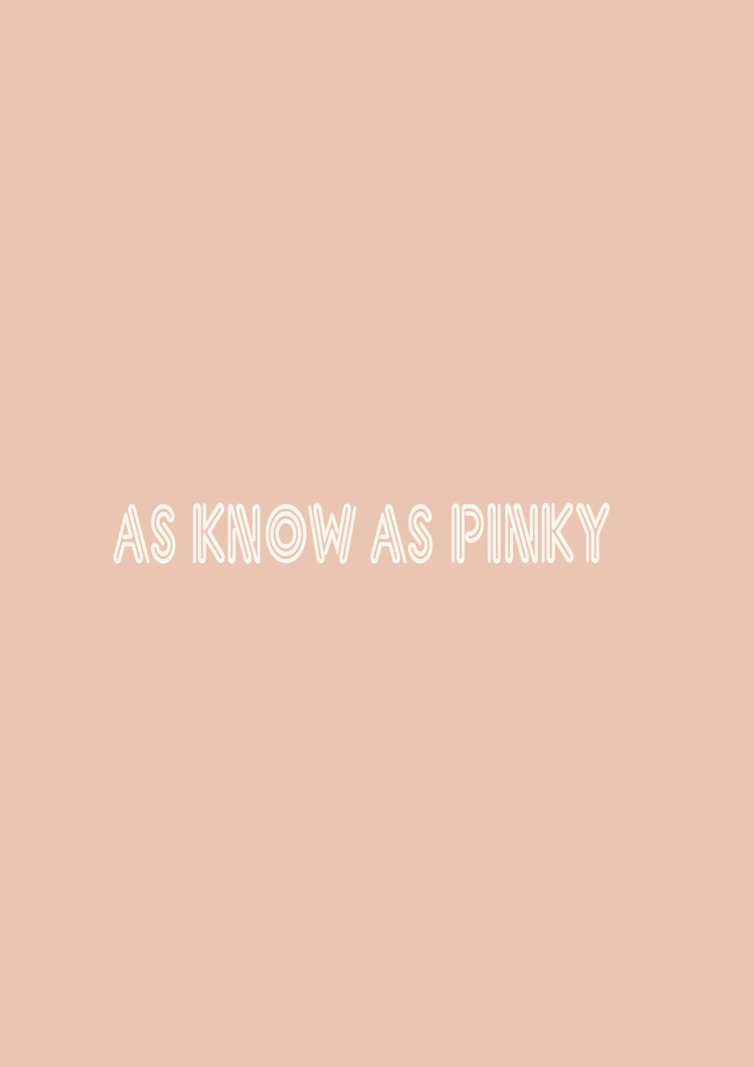 AS KNOW AS PINKY メインイメージ